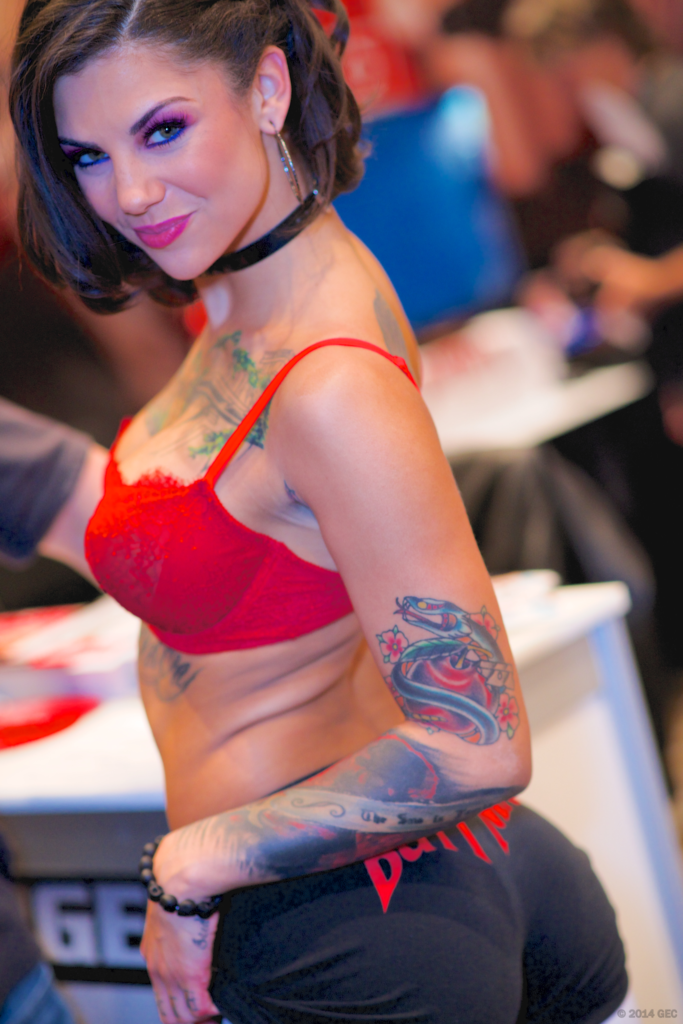 Bonnie Rotten attending the AVN Adult Entertainment Expo at the Hard Rock Hotel in Las Vegas on January 17, 2014