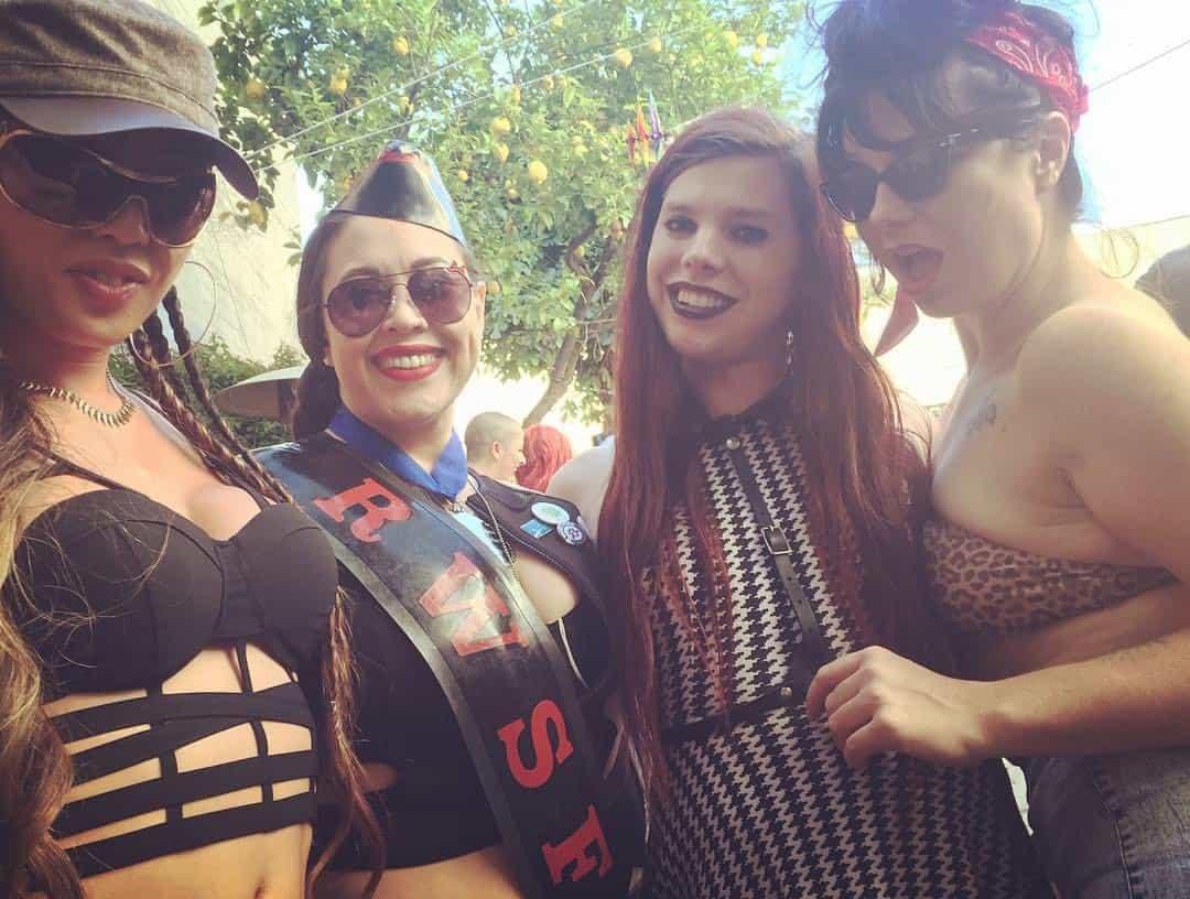 Venus Lux, Eden Alexander, The Whore Next Door and Chelsea Poe at Pride
