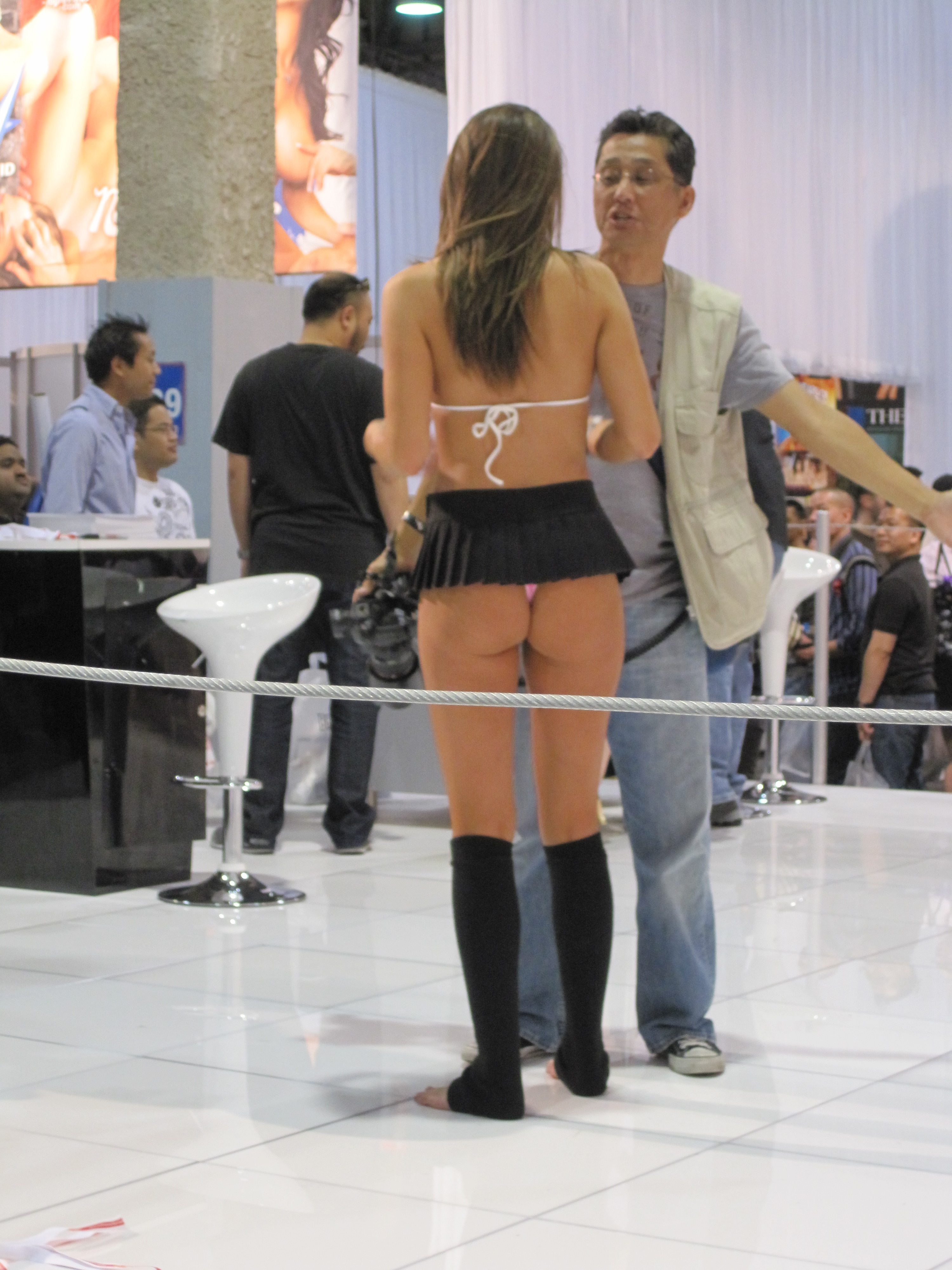 Tori Black signing for a fan at the 2010 Adult Entertainment Expo