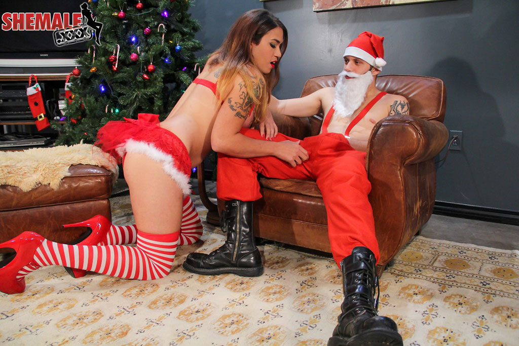 Tori Mayes and Santa