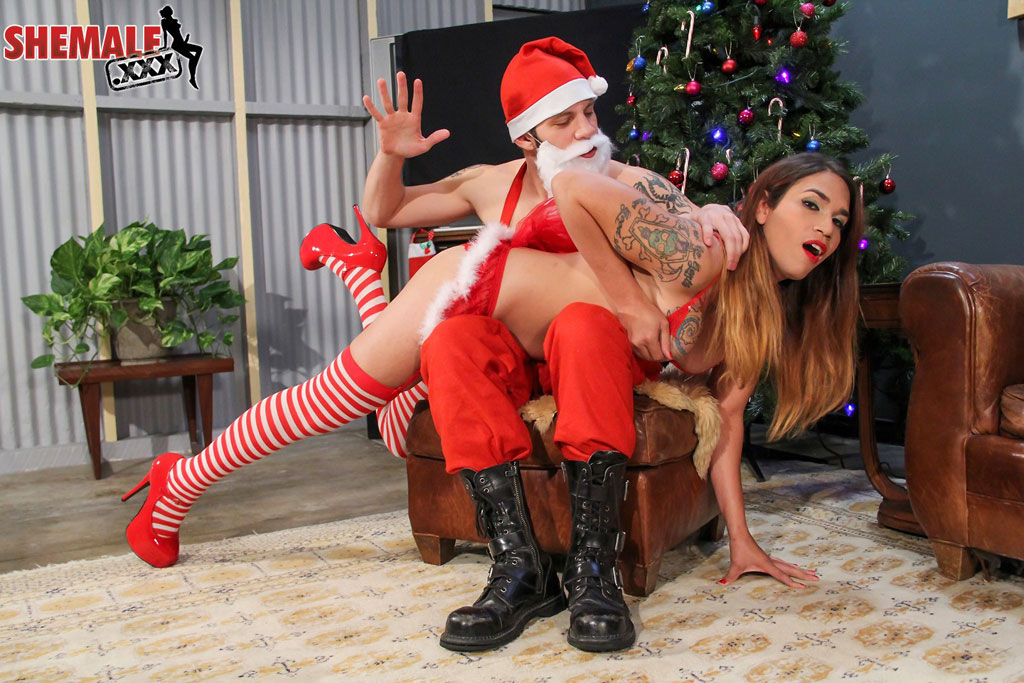 Tori Mayes and Santa 3
