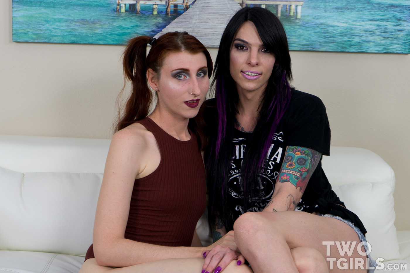 Jelena Vermillion and Chelsea Marie at Two T Girls