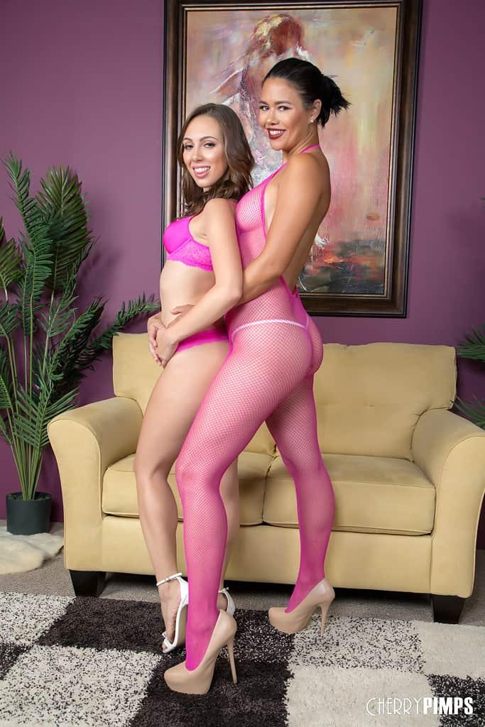 Dana and Jenna Sativa in pink