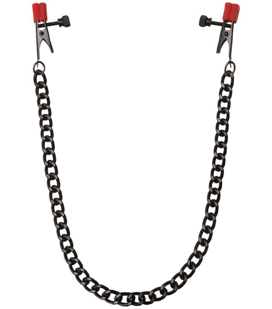 Chain aligator heavy nipple clamps