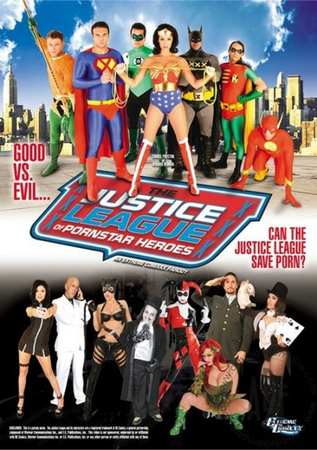 Justice League of Pornstar Heroes DVD