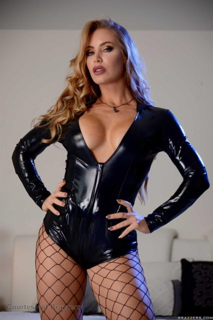 Top pornstars with big fake tits   Busty blonde Nicole Aniston in black PVC bodysuit and fishnet stockings - Brazzers Nicole Aniston sfw pics - Best boob job porntars with big fake boobs   Nicole Aniston showing off her enhanced cleavage in fetish wear