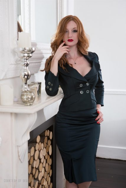 Zara DuRose AdultWebcamSites - Hot redhead British pornstar and fetish model Zara DuRose in sexy black blazer, tight black skirt, lacy black lingerie and high heels with red lipstick - 41 Years Old The Cheating Spouse Marc Dorcel Dorcel Club Zara DuRose porn pics sfw