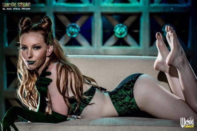 Top redhead pornstars AdultWebcamSites - Redhead porn star Katy Kiss pics - Katy Kiss Poison Ivy cosplay porn pics