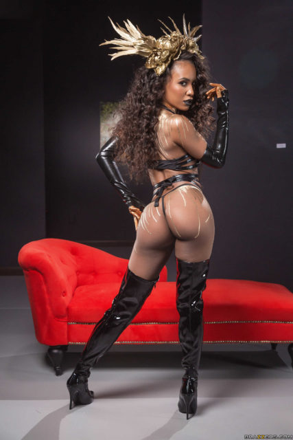 Top Brazzers pornstars AdultWebcamSites - Brazzers pornstar Demi Sutra pics - Demi Sutra in sexy thigh high boots - Demi Sutra in leather latex gloves and boots