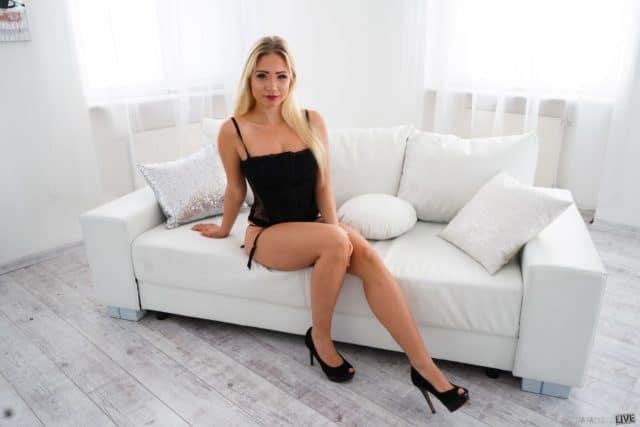 Gabi Gold AdultWebcamSites - Gabi Gold in sexy black lace lingerie and black peeptoe heels - Gabi Gold feet and leg pics - Immoral Live Gabi Gold porn pics