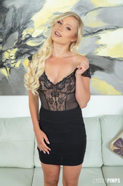 Gabi Gold AdultWebcamSites - Hot new German pornstar Gabi Gold in lace top and black skirt - Cherry Pimps Wild On Cam Gabi Gold porn pics sfw