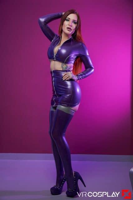 Alexxa Vice AdultWebcamSites - Tattooed British pornstar Alexxa Vice in sexy purple spandex Starfire cosplay outfit porn parody - Starfire: A XXX Parody VR Cosplay X Alexxa Vice porn pics sfw