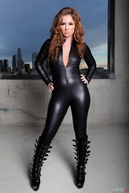 Top redhead pornstars AdultWebcamSites - Redhead pornstar Maddy O'Reilly pics - Maddy O'Reilly in sexy leather latex bodysuit and knee high boots