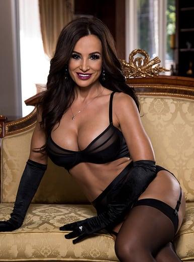 Top Brazzers pornstars AdultWebcamSites - Brazzers porn star Lisa Ann pics - Lisa Ann MILF in sexy black gloves, stockings and suspenders