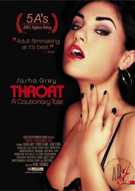 Sasha Grey throat a cautionary tale box cover