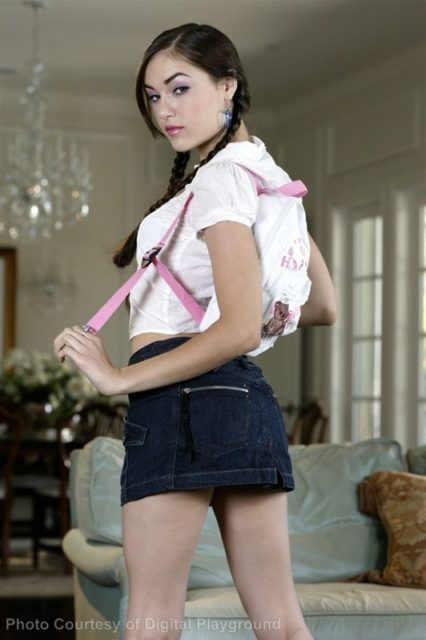 Sasha Grey sexy babysitter outfit
