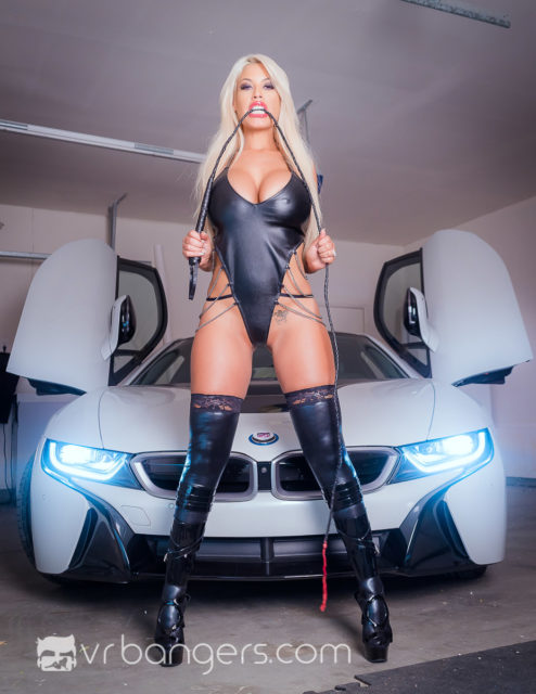 Top VR porn scenes XXXBios | Bridgette B in The Wrong House To Rob VR porn scene | Bridgette B in leather outfit and boots
