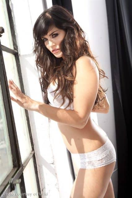 Sunny Leone in white lingerie