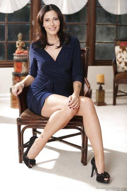 Zoey Holloway pornstar - Zoey Holloway in sexy blue dress and high heels - XXXBios pornstar bio pics