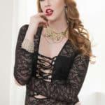Sonia Harcourt pornstar - Sonia Harcourt in lacy black leotard - XXXBios sexy redheads pics