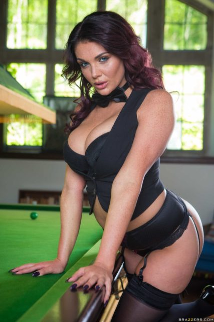 Emma Leigh AdultWebcamSites - Big tits brunette British pornstar Emma Leigh in black bow tie, black black, black bra, panties, lingerie, stockings and suspenders and black high heels - Sink The Pink Brazzers Emma Leigh porn pics sfw