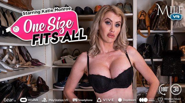 Katie Monroe AdultWebcamSites - Sexy big tits busty blonde MILF pornstar Katie Monroe in sexy black lace bra - One Size Fits All MILF VR Katie Monroe porn pics sfw - Katie Monroe VR porn scene pics sfw