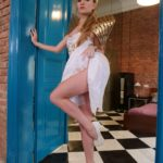 Angel Piaff XXXBios - Hot blonde all natural Czech pornstar Angel Piaff in sexy gold and white dress with high heels goddess costume - Holey Holes Evil Angel Angel Piaff porn pics sfw