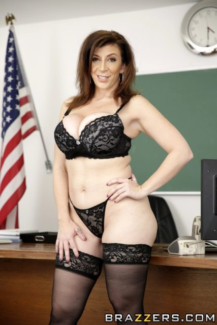 Sara Jay AdultWebcamSites - Hot busty blonde brunette MILF pornstar Sara Jay in sexy black lacy bra, black lace panties and black lacy stockings - Principal Photography Brazzers Sara Jay porn pics sfw
