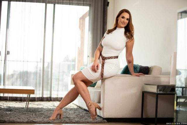 Siri AdultWebcamSites - Hot all natural busty pornstar Siri shows off her natural 32DDD big tits in a sexy white dress and nude high heels - Someone Called Siri Brazzers Siri porn pics sfw