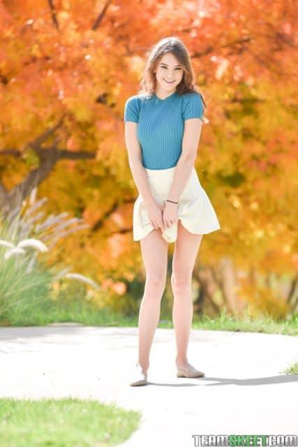 Ellie Eilish AdultWebcamSites - Hot all natural petite brunette teen pornstar Ellie Eilish in sexy blue tshirt, white skirt and pumps - Tiny Cum Lover Exxxtra Small Team Skeet Ellie Eilish porn pics sfw