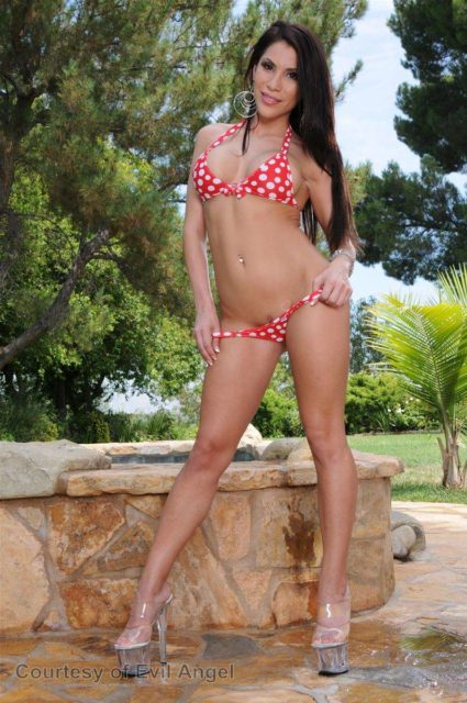 Aleksa Nicole AdultWebcamSites - Hot brunette petite Mexican Latina pornstar Aleksa Nicole shows off her sexy big tits 34D boobs and amazing ass big butt booty in sexy red bikini and platform high heels - Bikini Clad Cum Sluts 2 Evil Angel Aleksa Nicole porn pics sfw
