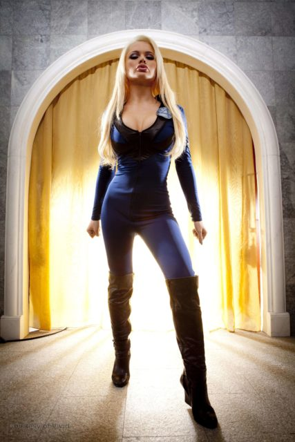 Alexis Ford AdultWebcamSites - Hot busty blonde pornstar Alexis Ford shows off her amazing big tits 32DD boobs in a sexy Susan Sue Storm Invisible Woman Fantastic Four cosplay costume with blue bodysuit and thigh high black boots - She Hulk XXX Vivid Comix porn parody Alexis Ford porn pics sfw