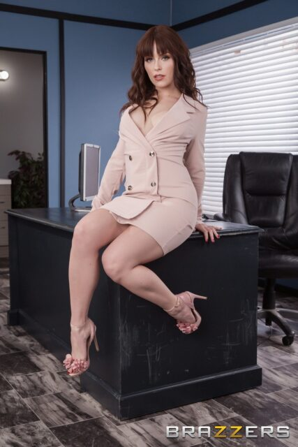 Kiara Edwards AdultWebcamSites - Hot busty brunette Australian MILF pornstar Kiara Edwards shows off her 32DD big natural tits in sexy tan suit dress and high heels which showcase her cute toes, feet, legs, petite frame and all natural curves - How About Cock? Brazzers Kiara Edwards porn pics sfw