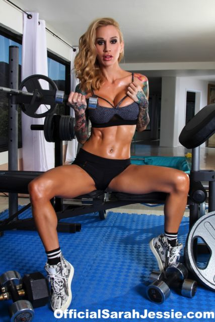 Top fit and athletic pornstars AdultWebcamSites - Fit and athletic pornstar Sarah Jessie porn pics sfw