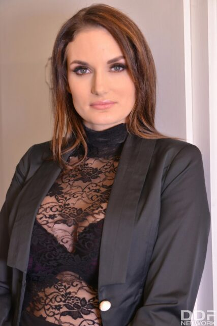 Marie Clarence XXXBios - Hot busty tall French pornstar Marie Clarence in sexy black jacket, sheer black lacy top and pants - DDF Network Legal Porno Marie Clarence porn pics sfw