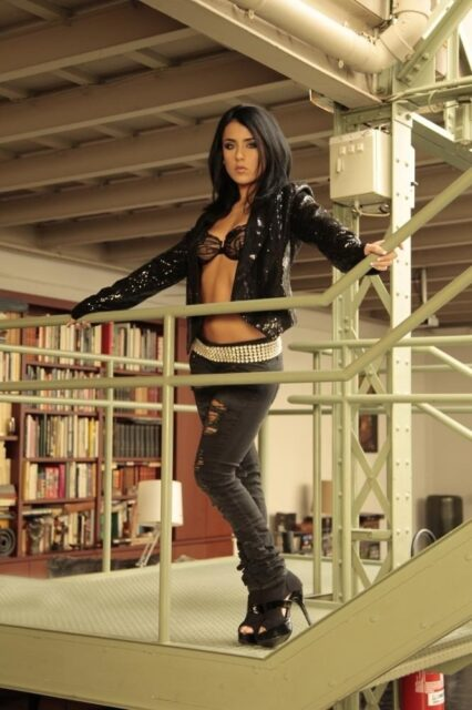 Jade Laroche XXXBios - Hot petite French pornstar Jade Laroche shows off her sexy big tits and big ass bubble butt booty in sexy black bra and panties with black leather jacket, ripped black jeans and high heels - Jade Laroche Sex Story Marc Dorcel Vision Jade Laroche porn pics sfw