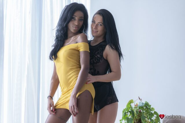 Asia Rae XXXBios - Hot black all natural British pornstar Asia Rae shows off her big ass bubble butt booty in sexy yellow dress with Lexi Dona in sexy black dress - Lesbea Sexy Hub Asia Rae porn pics sfw