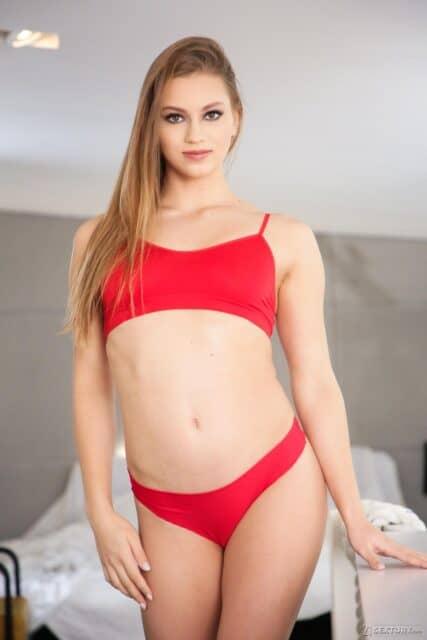 Mia Split XXXBios - Hot tall flexible brunette all natural pornstar Mia Split in sexy red bra and panties with bare feet - 21Sextury Mia Split porn pics sfw