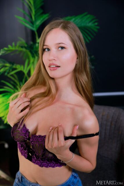 Stella Cardo XXXBios - Hot tall blonde all natural Ukrainian pornstar Stella Cardo shows off her 32D big natural tits in sexy purple lace lingerie - MetArt Stella Cardo porn pics sfw