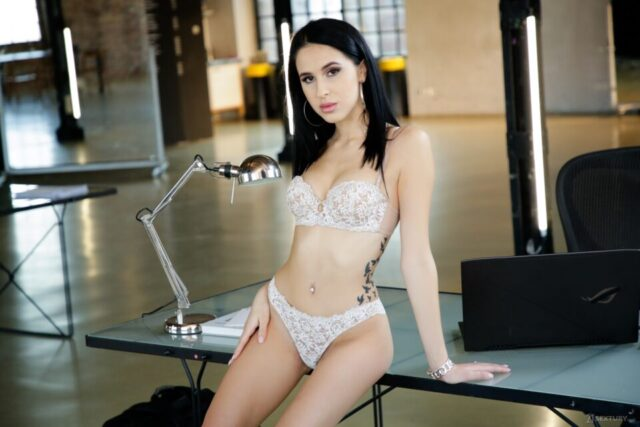 Alyssa Bounty XXXBios - Hot all natural petite Moldavian pornstar Alyssa Bounty in sexy white lacy lingerie - 21 Sextury Alyssa Bounty porn pics sfw