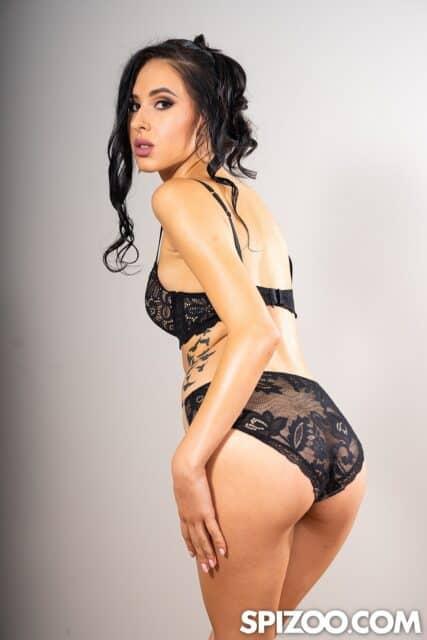 Alyssa Bounty XXXBios - Hot all natural petite Moldavian pornstar Alyssa Bounty in sexy black lace bra and panties lingerie - Spizoo Alyssa Bounty porn pics sfw