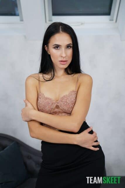 Alyssa Bounty XXXBios - Hot all natural petite Moldavian pornstar Alyssa Bounty in sexy nude lace top, tight black skirt and high heels - This Girl Sucks Team Skeet Alyssa Bounty porn pics sfw